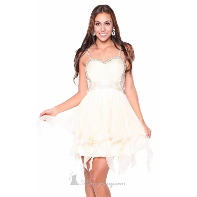 Boda - Ivory Beaded Sweetheart Dress by Atria - Color Your Classy Wardrobe