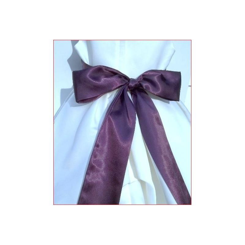 Hochzeit - DARK PLUM Satin Ladies Sash Bridal Sash Satin Sash NOT Ribbon Smaller Size 90 inch up to 100 inch - Hand-made Beautiful Dresses