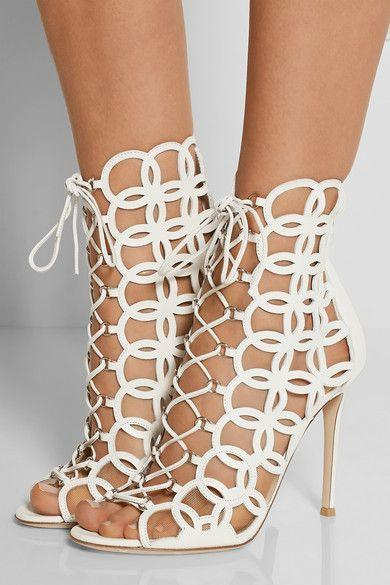 Mariage - Gianvito Rossi - Cutout Leather Sandals
