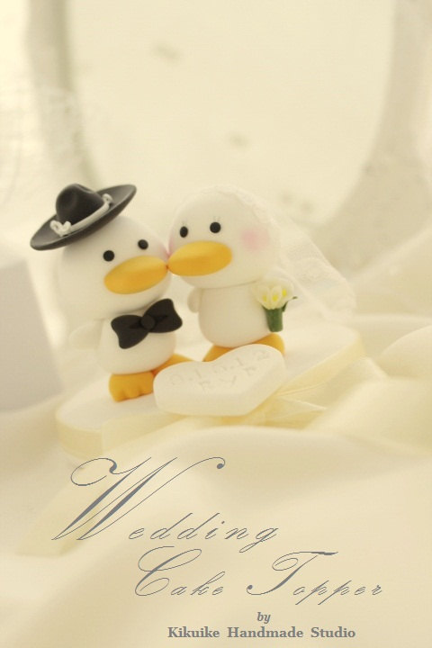 زفاف - duck Wedding Cake Topper---k745