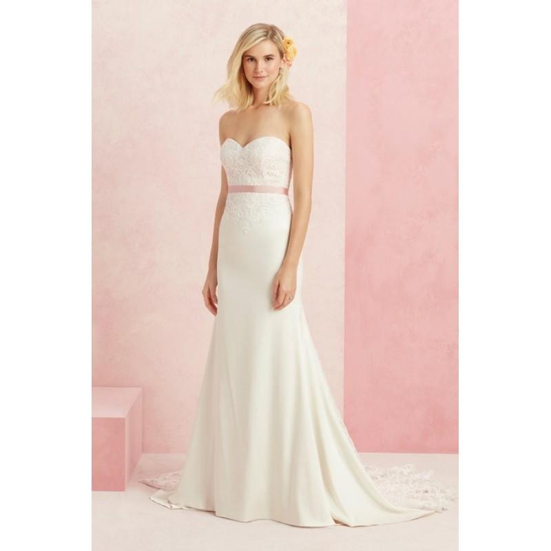 Nozze - Style BL221 by Beloved by Casablanca Bridal - Floor length Fit-n-flare Sweetheart Sleeveless LaceSatin Semi-Cathedral Dress - 2017 Unique Wedding Shop