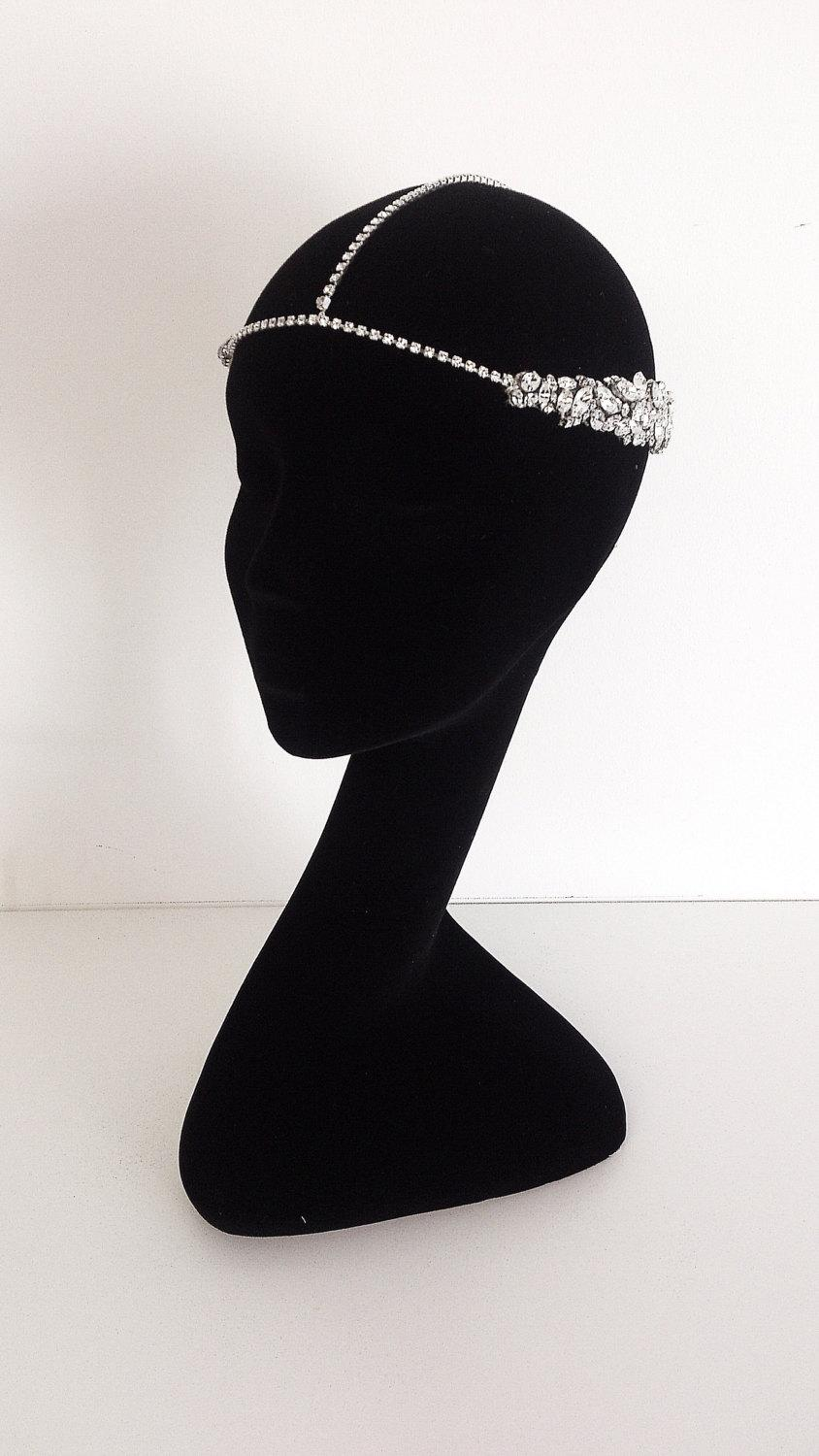 Boda - Isis Crystal Headpiece, bridal headpiece, bohemian headpiece, Grecian headpiece