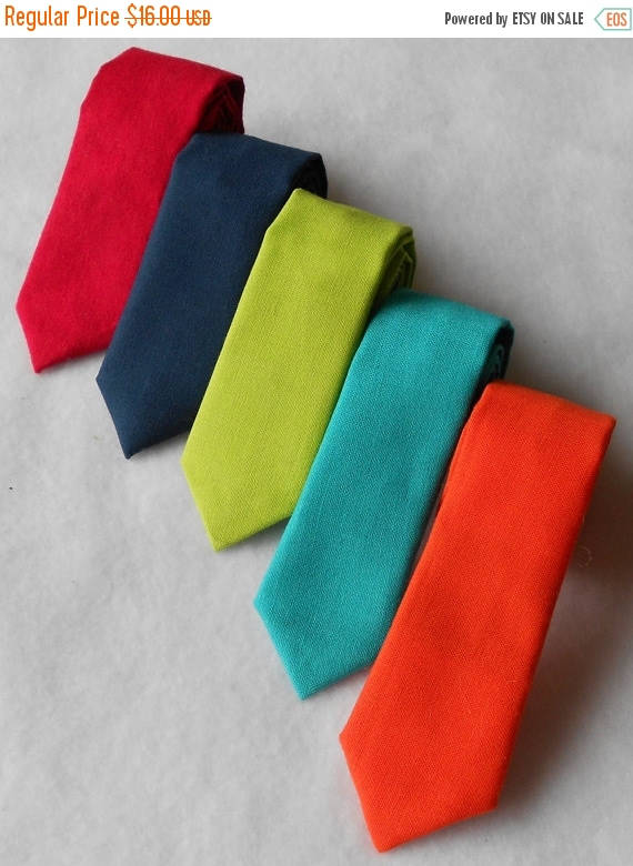 Mariage - SALE Navy, Red, Teal, Orange, or Lime Green Tie - Skinny or Standard Width - Infant, Toddler, Boy  2 weeks before shipping