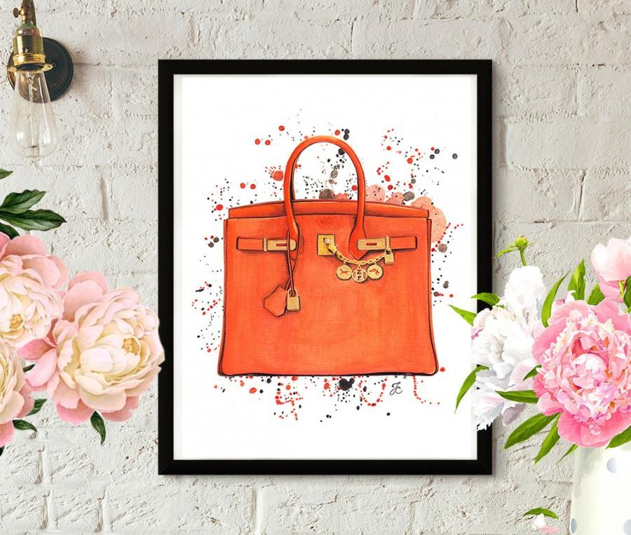 Düğün - Hermes Birkin, Hermes art, Hermes illustration, Fashion illustration, Hermes painting, Hermes bag, Hermes fashion, Hermes orange bag
