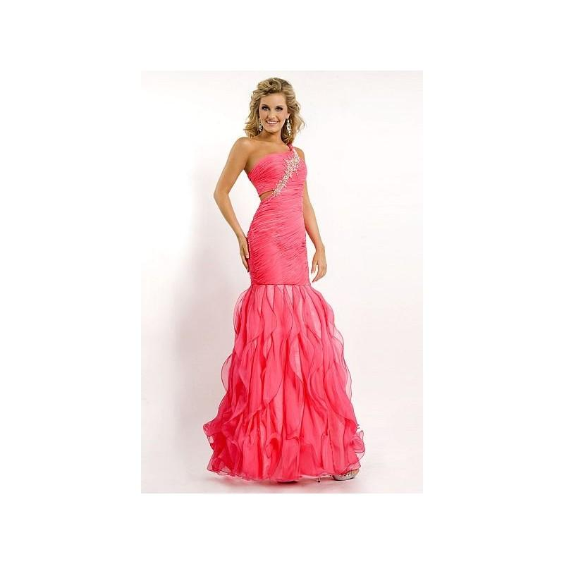 Wedding - Party Time One Shoulder Ruffle Prom Dress 6763 - Brand Prom Dresses