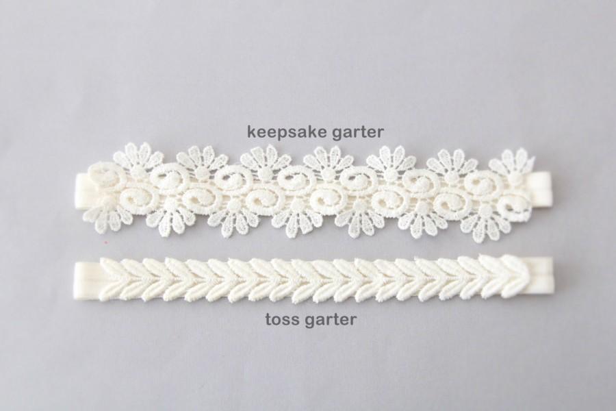 Свадьба - Ivory Lace Wedding Garter Set, Ivory Bridal Wedding Garter Set, Ivory Lace Garter Set