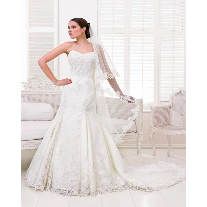 Wedding - Charming Trumpet/Mermaid Strapless Lace Sweep/Brush Train Wedding Dresses - Dressesular.com