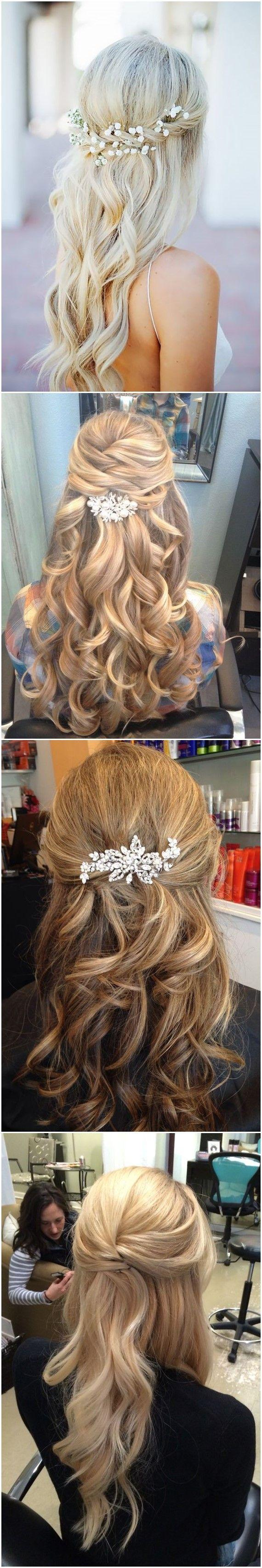 Wedding - 22 Half Up And Half Down Wedding Hairstyles To Get You Inspired