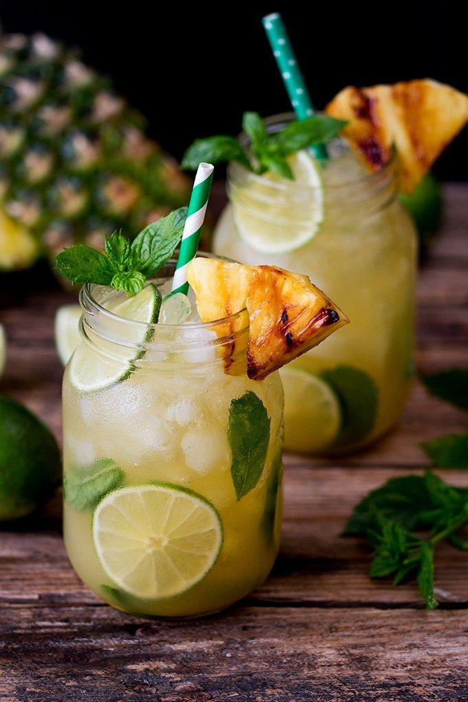 Wedding - Pineapple Ginger Mojitos With Spiced Rum
