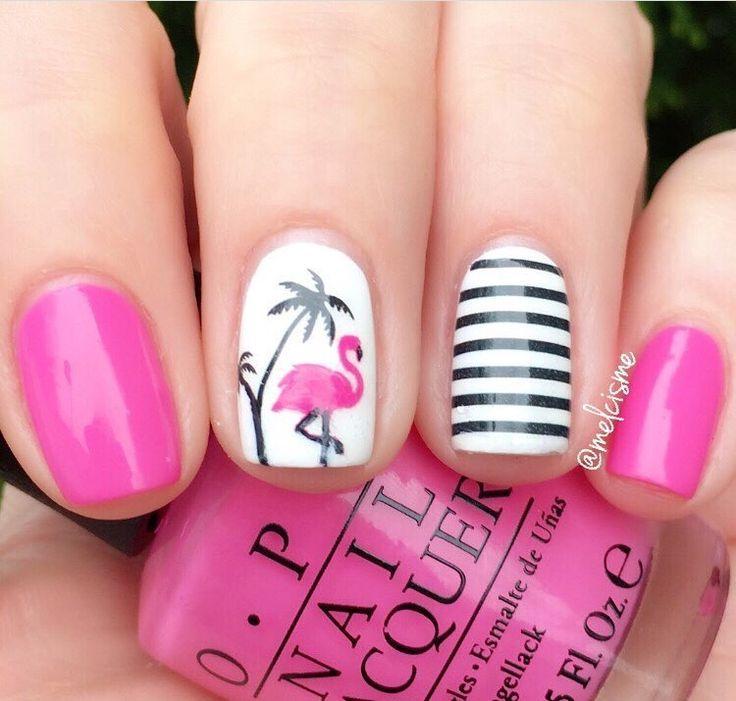 زفاف - Flamingo Nail Decals/ Nail Stencils