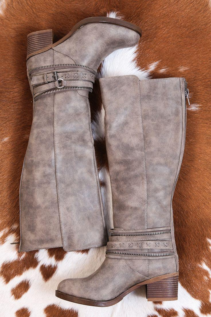 Wedding - Vally Tall Distressed Riding Boot