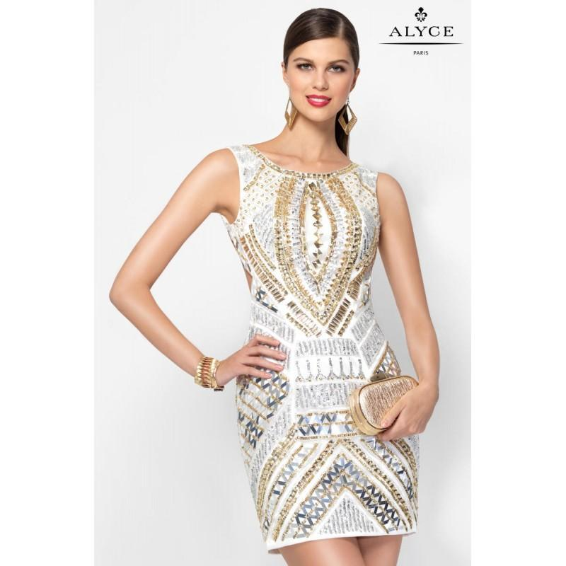 Diamond White/Silver/Gold Claudine For Alyce Prom 2568 Claudine For ...