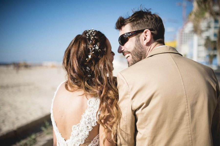 زفاف - Bridal hair vine, Flower hair wreath, boho bridal hair vine, Silver hair wreath, pearl and crystal hair vine, Wedding hair wreath