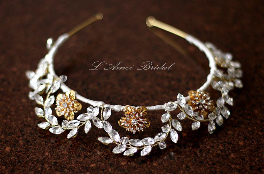 زفاف - Brilliantly Elegant tiara Wedding Bridal Headpiece Hair Accessory with Crystals Blended with Rhinestones. Unobtrusive and Flashy