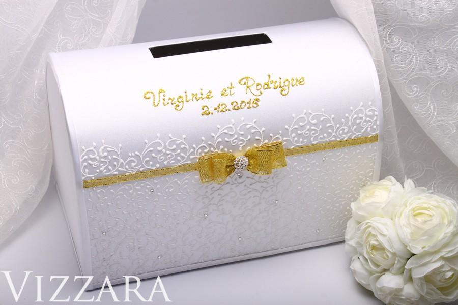 Wedding Gifts Boxes: Wedding Post Box Wedding Royal Gold Wedding Card Holder