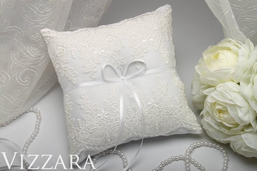 Wedding Pillow Lace Ring Bearer Wedding Accessories Ideas Wedding ...