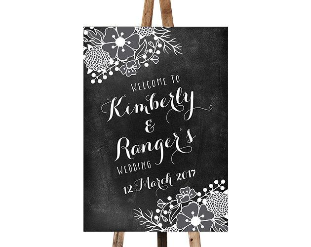 زفاف - Printable Chalkboard Wedding Welcome Sign
