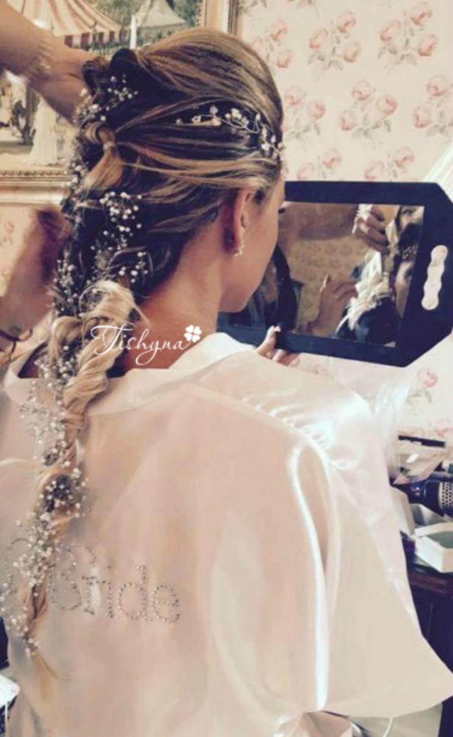 Mariage - Valentine's day Wedding hairvine Long hair vine Boho Bridal Wedding Headband Headpiece Hairpiece Hair Vine Wreath Tiara Diadem Bridal Shower