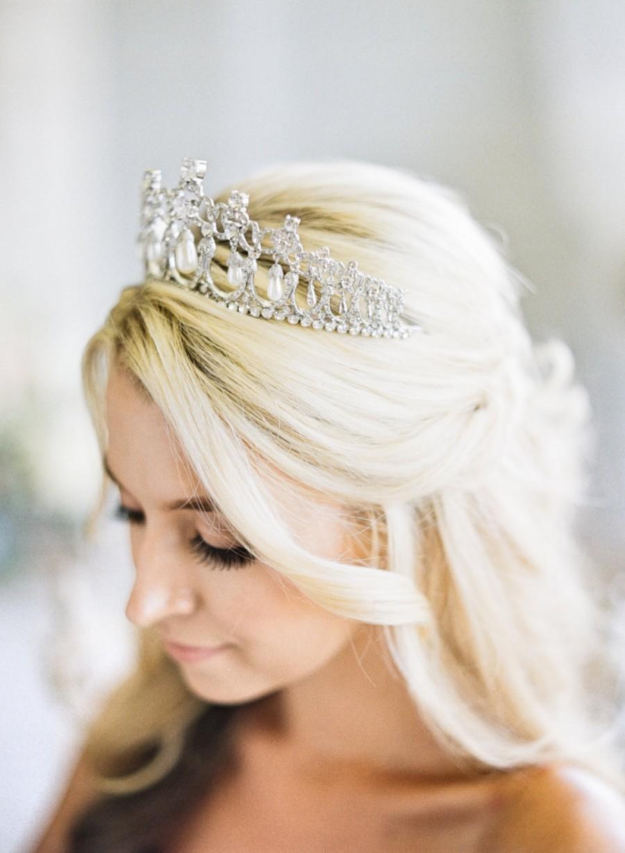 Mariage - Bridal Tiara Crystal Heart Tiara - CAMBRIDGE, Swarovski Bridal Tiara, Crystal Wedding Crown, Rhinestone Tiara, Wedding Tiara, Diamante Crown
