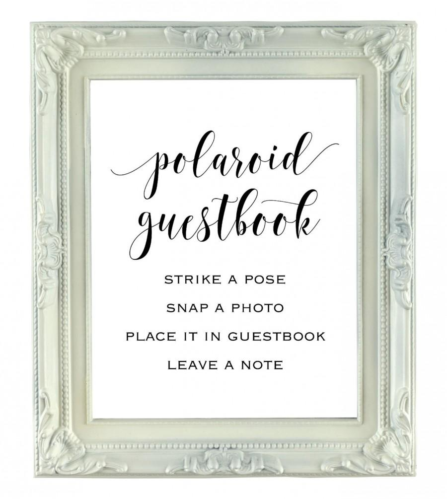 Wedding Guest Book Where It S Your Guests That Sign Their: Polaroid Guestbook Sign, 8x10 Instant Download Wedding