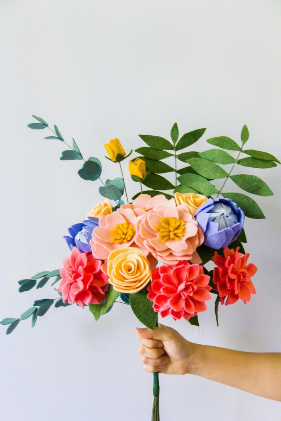 Mariage - Felt Flower Bouquet (Tropical/Weddings)