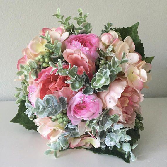 Boho Flower Bouquet, Boho Bouquet, Silk Flower Arrangement, Boho ...