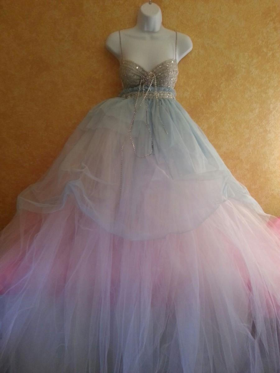 Sample gown listing blue angel goddess bohemian babydoll for Empire waist tulle wedding dress