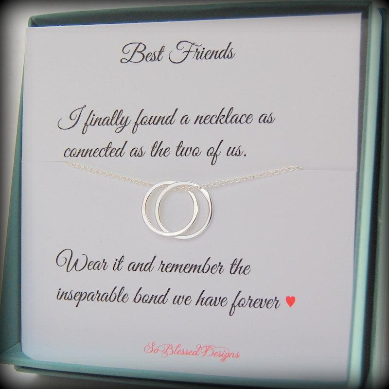 Best Friend Gift Friendship Necklace Connected Bff Graduation Connecting Circles Birthday