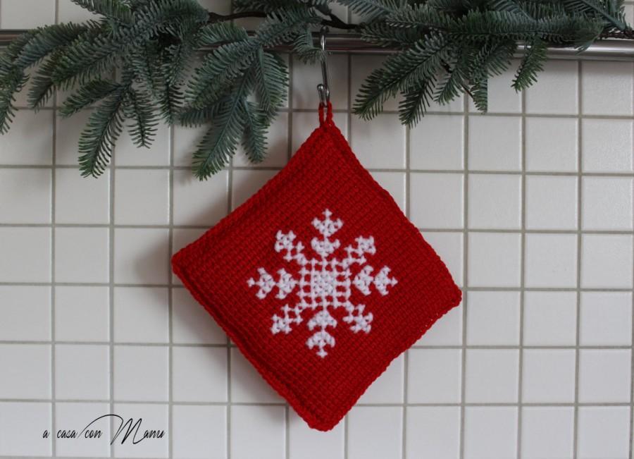 Presina Rossa A Uncinetto, Uncinetto Presina Di Natale, Christmas