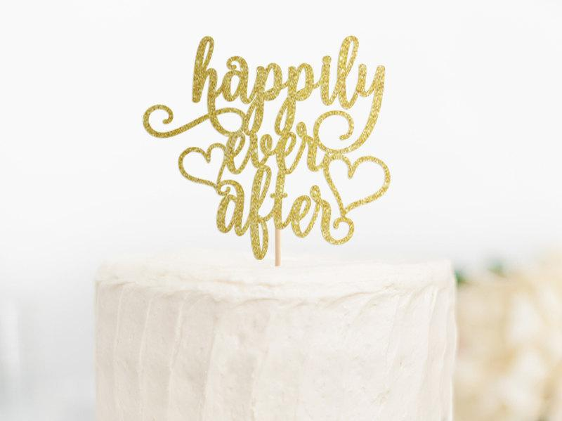 happily ever after cake topper happily ever after wedding decor fairy tale cake topper bridal shower topper engagement cake topper