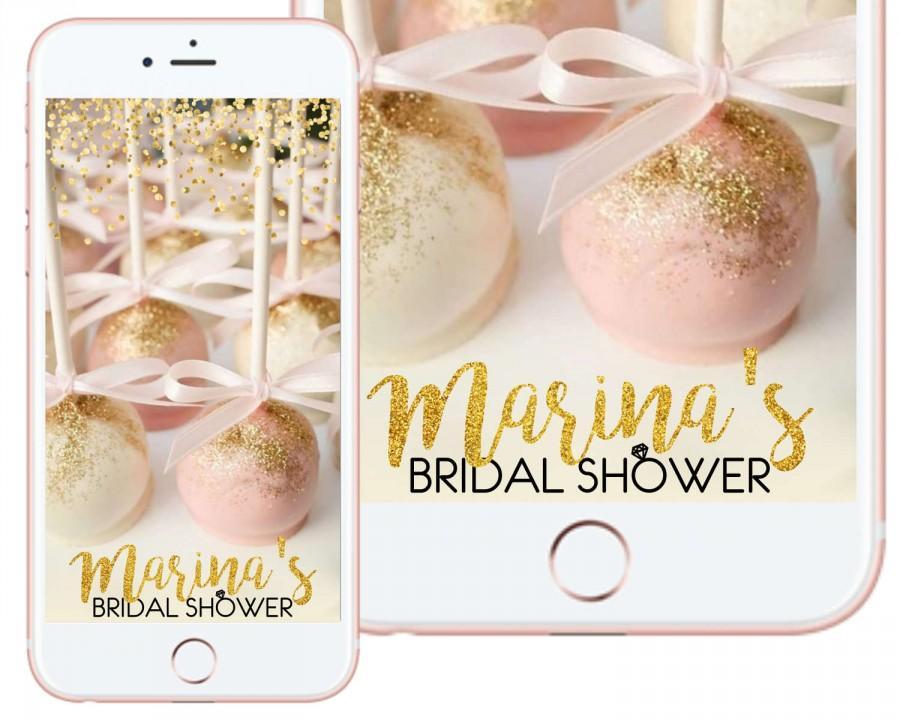 Свадьба - Glitter and Custom Color Birthday/ Bridal/Baby Shower Snapchat Filter