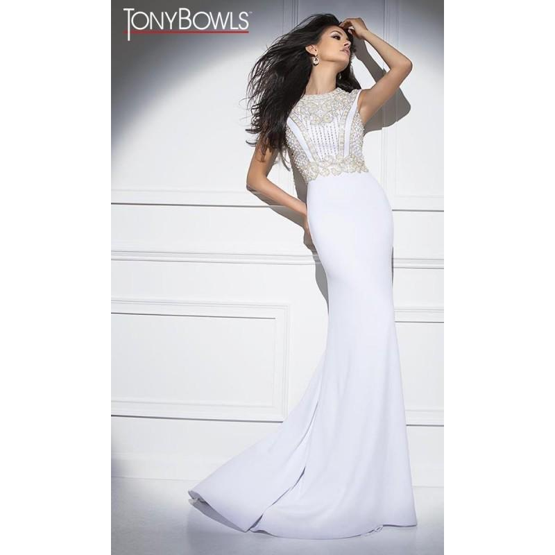 Mariage - White Tony Bowls Collection TB11695 Tony Bowls Collection - Top Design Dress Online Shop