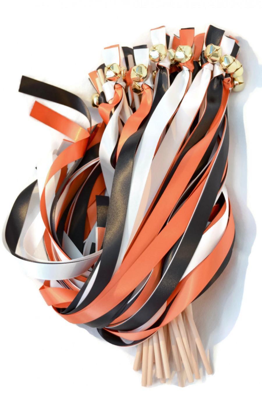Mariage - 100 Triple Ribbon  Wedding Wand Bell Streamers ~ Bell Wands ~  Ribbon Wands