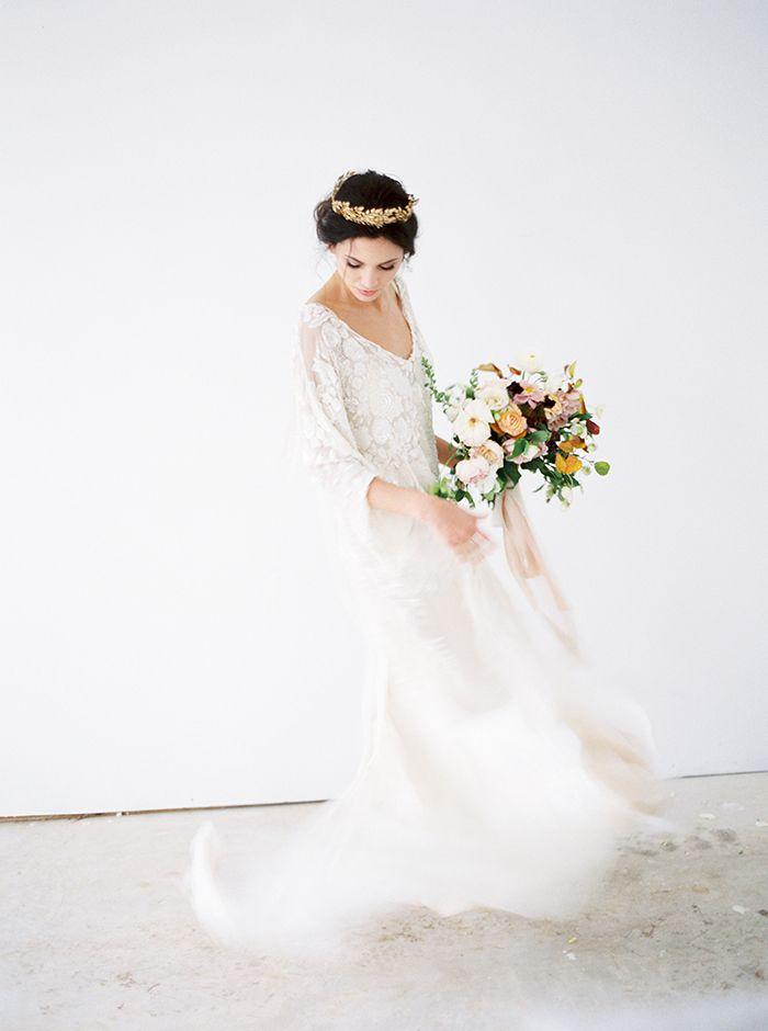 Wedding - Fall Foliage Meets Vintage Bridal Style