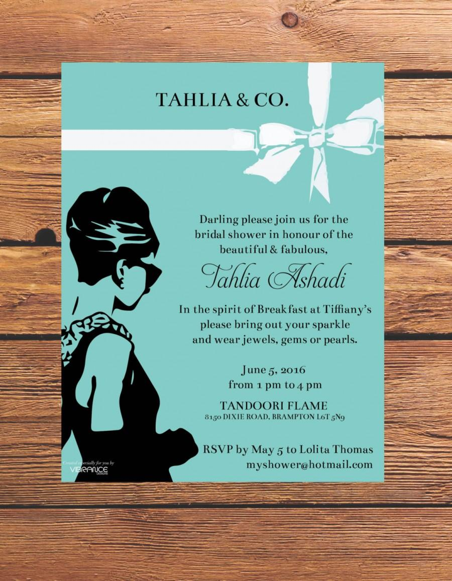 زفاف - Breakfast at Tiffany's Bridal Shower Invitation