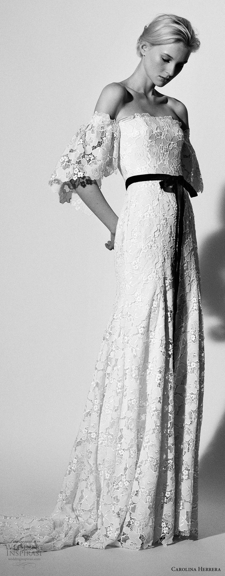 Hochzeit - Carolina Herrera Bridal Spring 2018 Wedding Dresses