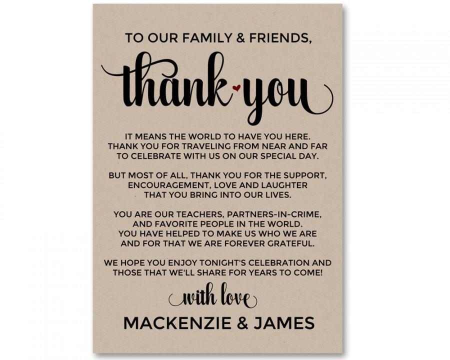 Wedding - Wedding Thank You, Thank You Card, Editable Thank You, Wedding Welcome Bag, Wedding Thank You Card, Printable Thank You, Welcome Bag, WSET4