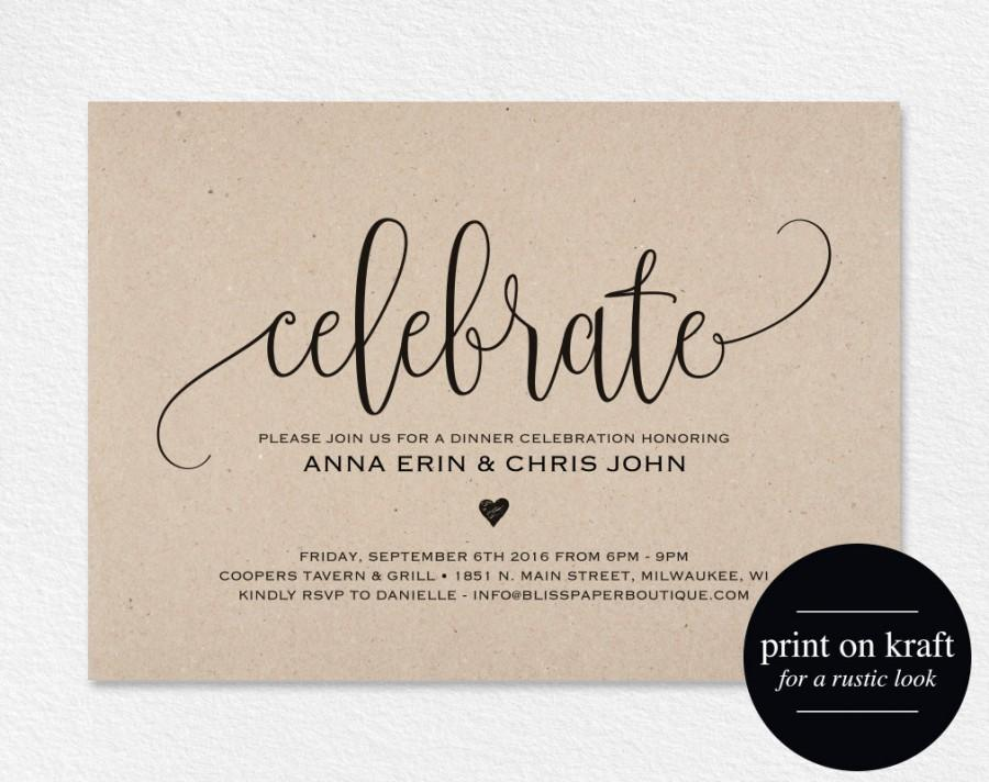 Celebrate Invitation Printable Dinner Party Printable Party