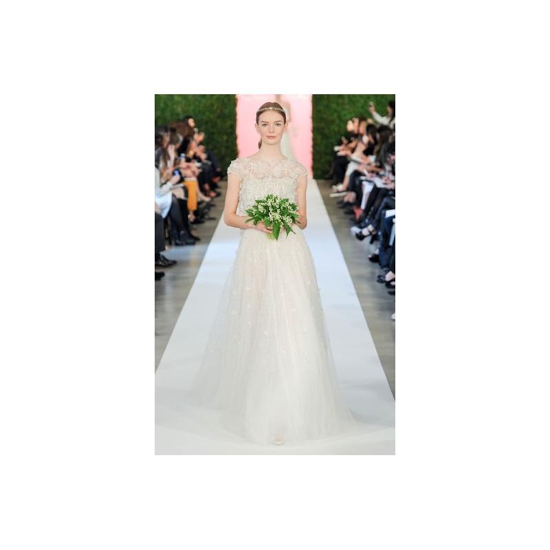 Hochzeit - Oscar De La Renta SP2015 Dress 4 - Oscar de la Renta Full Length White High-Neck Spring 2015 A-Line - Nonmiss One Wedding Store