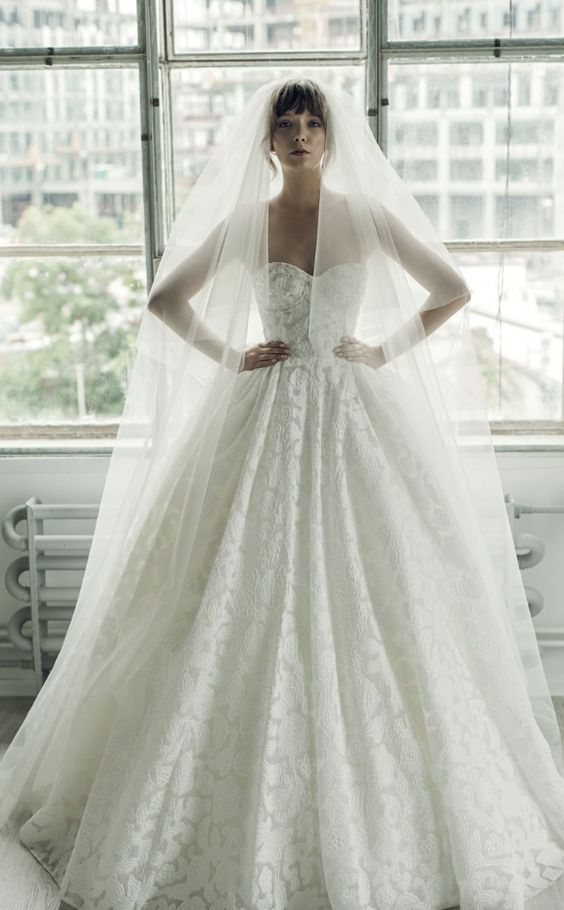 Strapless Embroidered Empire Waist Ballgown Wedding Dress #2722380 ...