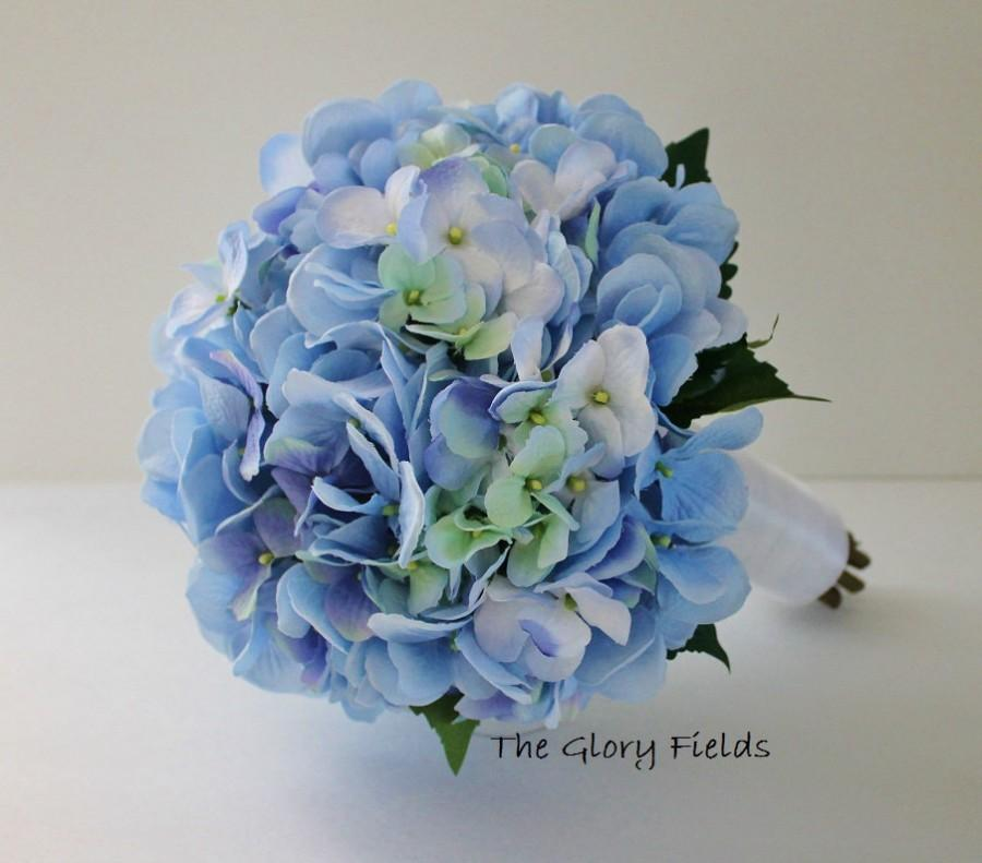 Mariage - Premium Blue Hydrangea Bouquet. Wedding Packages and Custom Orders Available!