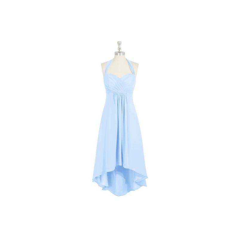 زفاف - Sky_blue Azazie Annabel - Asymmetrical Chiffon Halter Back Zip Dress - Charming Bridesmaids Store
