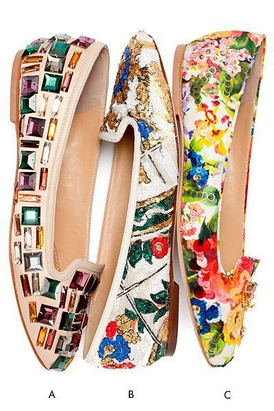 Mariage - Tendance Chaussures - The New Florals - Dolce & Gabbana Ballet Flats 2014... - FlashMag - Talent, Fashion & Lifestyle