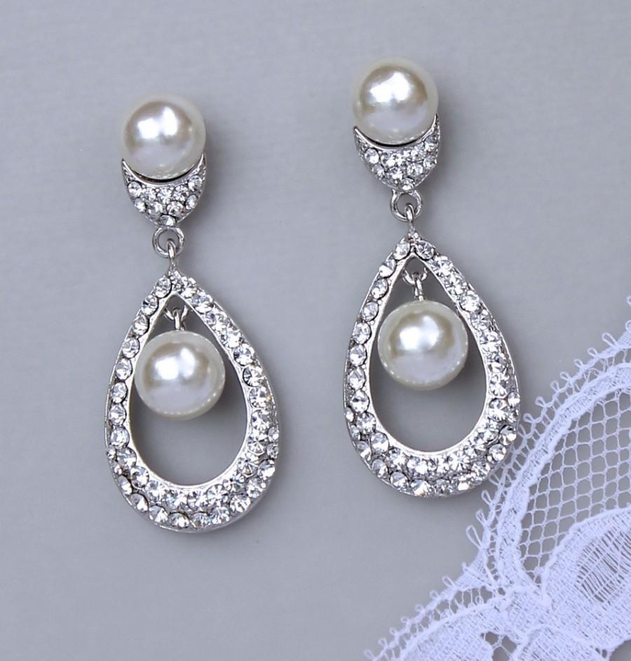 Teardrop bridal earrings crystal pearl chandelier earrings teardrop bridal earrings crystal pearl chandelier earrings bridal jewelry wedding jewelry wedding earrings molly arubaitofo Choice Image