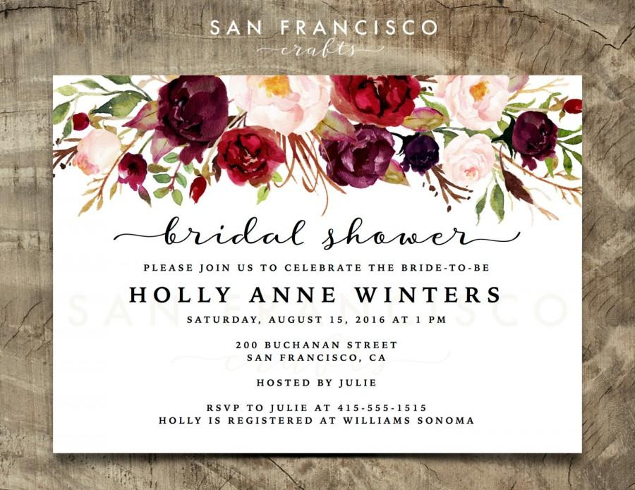 Свадьба - Bridal Shower Invitation