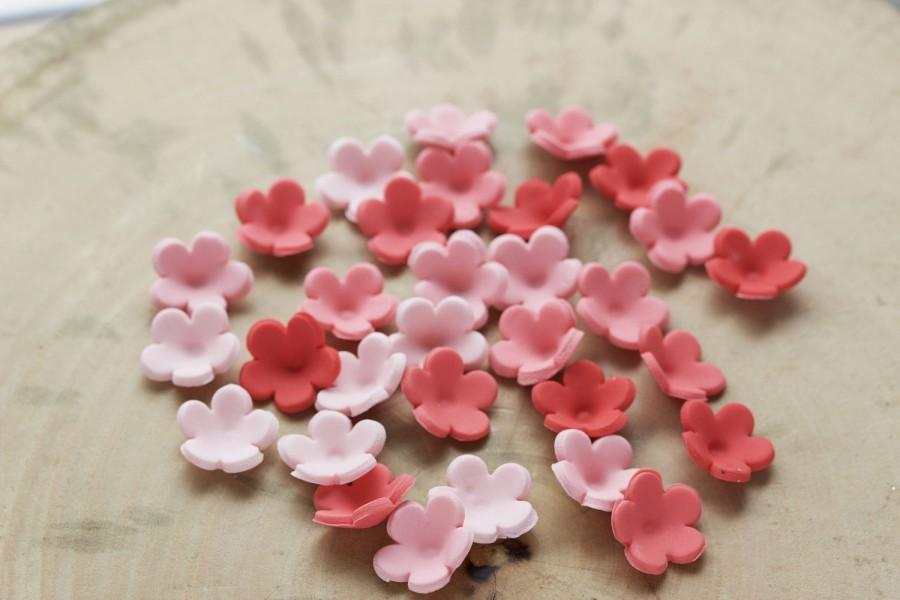 Mariage - Set of 100 small edible fondant flowers, Fondant flowers for cake, Pre made fondant flowers, Cupcake flowers
