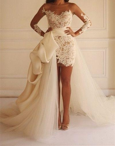Wedding - Unique Prom Dress,Lace Prom Dress,I