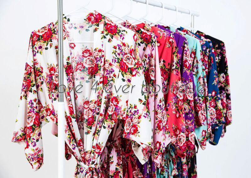 Hochzeit - Cotton Kimono Robe, Bridesmaid robes, Bridal party robe, Floral Cotton Robe, Delivery Robe, Baby shower gift, nursing robe