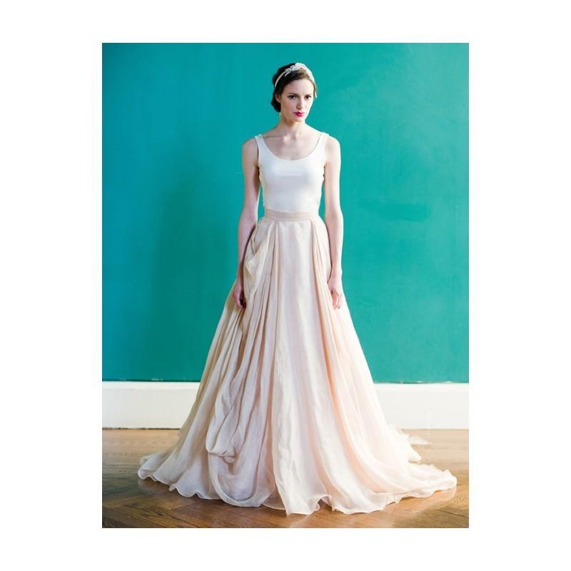 Carol Hannah - Spring 2013 - Kensington Draped Linen And Cotton Ball ...