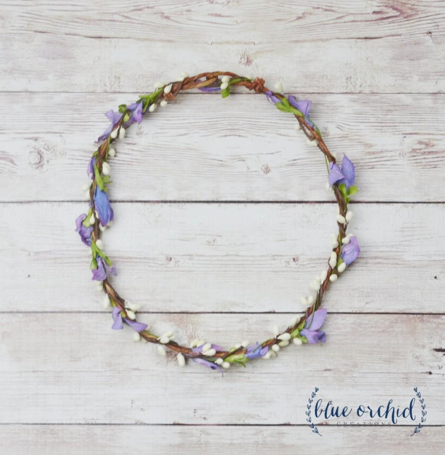 Wildflower Crown Purple Flower Crown Thin Flower Crown Delicate